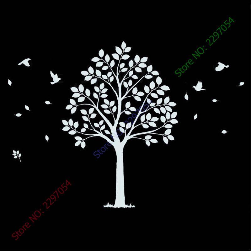 Nouveau grand arbre Sticker mural arbre généalogique Sticker mural bricolage amovible décoration murale vinyle arbre papier peint