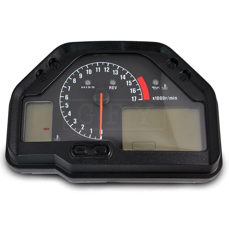Motorrad LED Elektronische Tachometer Lcd-computer-geschwindigkeitsmesser-grüne Zubehör Gauge Kit für Honda CBR600RR CBR 600RR CBR 600 RR 2003-06