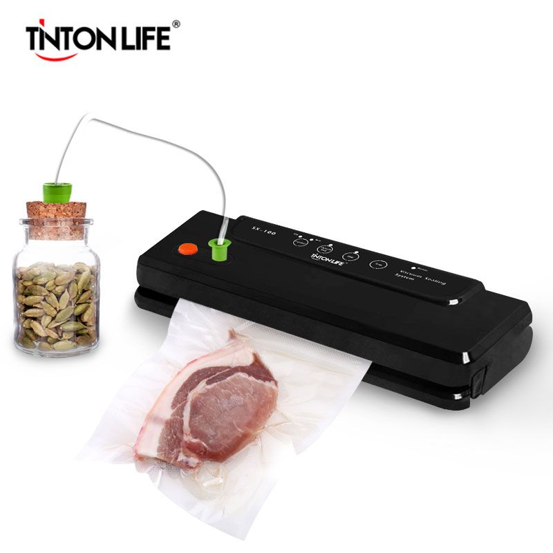 TINTON LIFE Household Multi-function Vacuum Sealer Automatic Vacuum Sealing System Keeps Fresh up to 7x Longer SX100/SU801