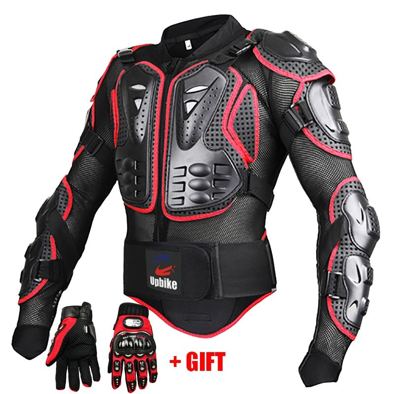 Motorcycle Jackets Full body Protection BLACK RED ARMOR turtle Moto jackets men motorcycle gear motocross clothing GP bike cloth