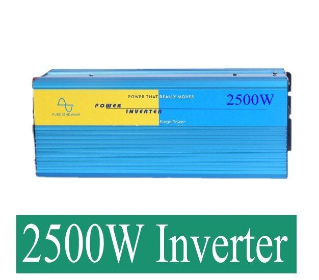 24v 2500w power voltage converter 24v 220v pure sine wave inverter