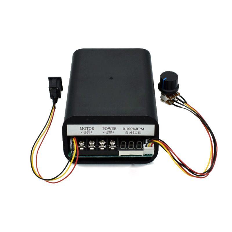 Contrôleur de vitesse de moteur cc PWM max 60A CW CCW affichage numérique 0 ~ 100% module d'entraînement réglable entrée 10 V ~ 55 V