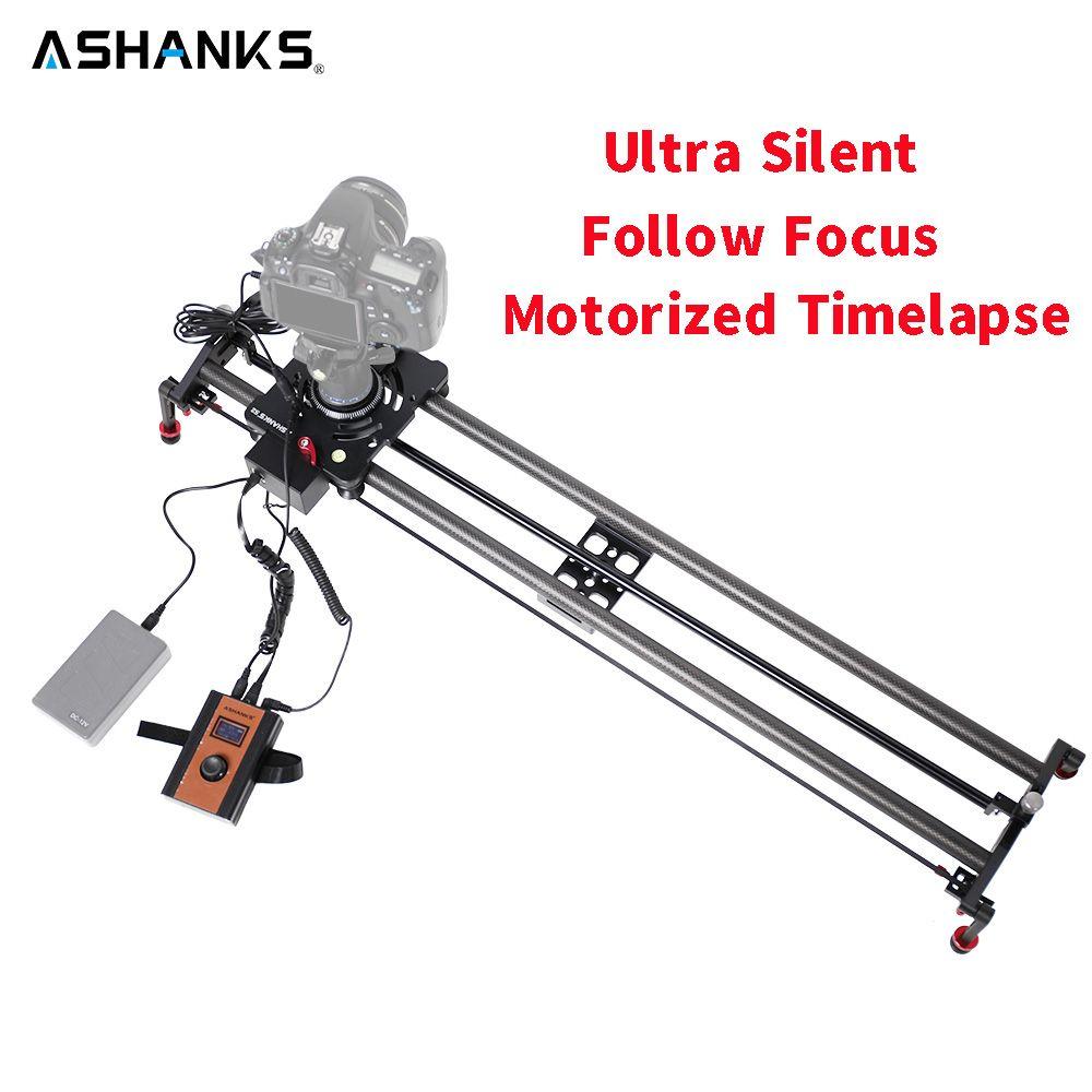 ASHANKS Stepper Motor Motorized Timelapse Video Slider Follow Focus Rail Carbon Slide for Electric Control DSLR Camera Shooting
