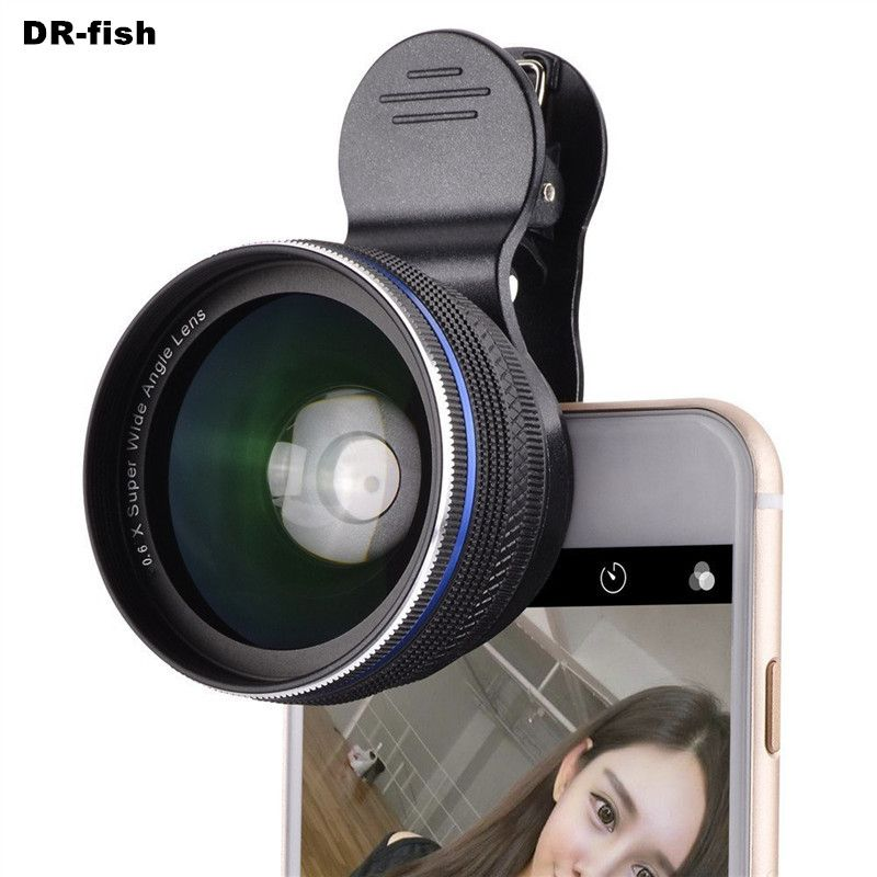 Cell Phone Lenses 0.45X/0.6X Super Wide Angle 12.5x Macro Lens For iPhone 6 Plus 7 5S xiaomi 5 Samsung S7 Edge Camera lens Kit