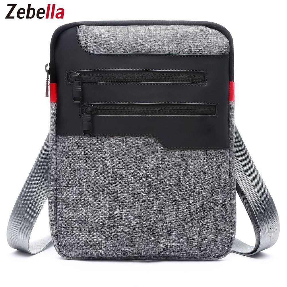 Zebella décontracté hommes Messenger sac à bandoulière pour iPad Sacoche en Nylon voyage mallette d'affaires Pack de poitrine sac à main Sacoche Homme