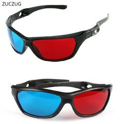 ZUCZUG new  Black Frame Universal 3D Plastic glasses/Oculos/Red Blue Cyan 3D glass Anaglyph 3D Movie Game DVD vision/cinema