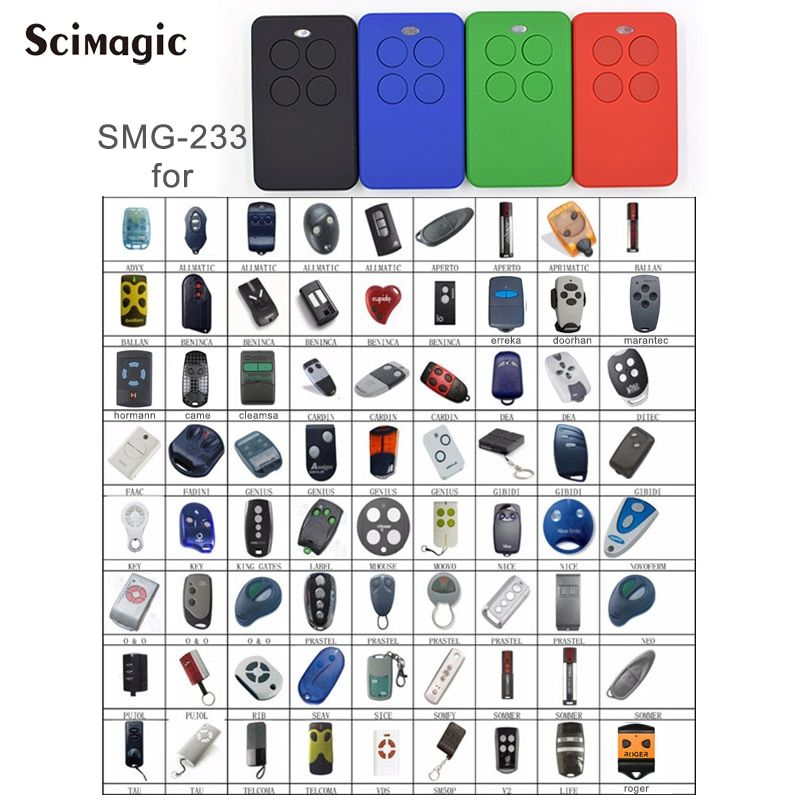 Garage remote control clone Multi frequency 280-868mhz gate control garage command barrier remote universal Handheld transmitter