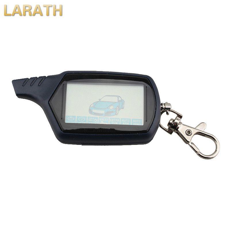 LARATH Starlionr B9 Starline LCD Remote Controller For Two Way Car Alarm Starline B9 Keychain(No Battery) With Logo Sticker