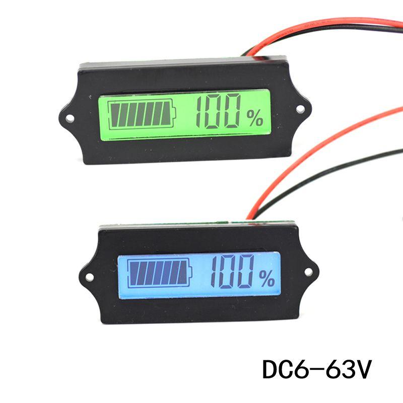 LCD Lithium-eisen phosphat Batterie LiFePO4 Säure Blei Lithium-Batterie Kapazität Anzeige Digital Voltmeter Tester 12 v dropship