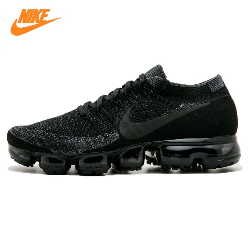 Nike Air Vapormax Flyknit Men's Running Shoes, Black, Breathable, Non-Slip, Abrasion-resistant Lightweight 899473 003