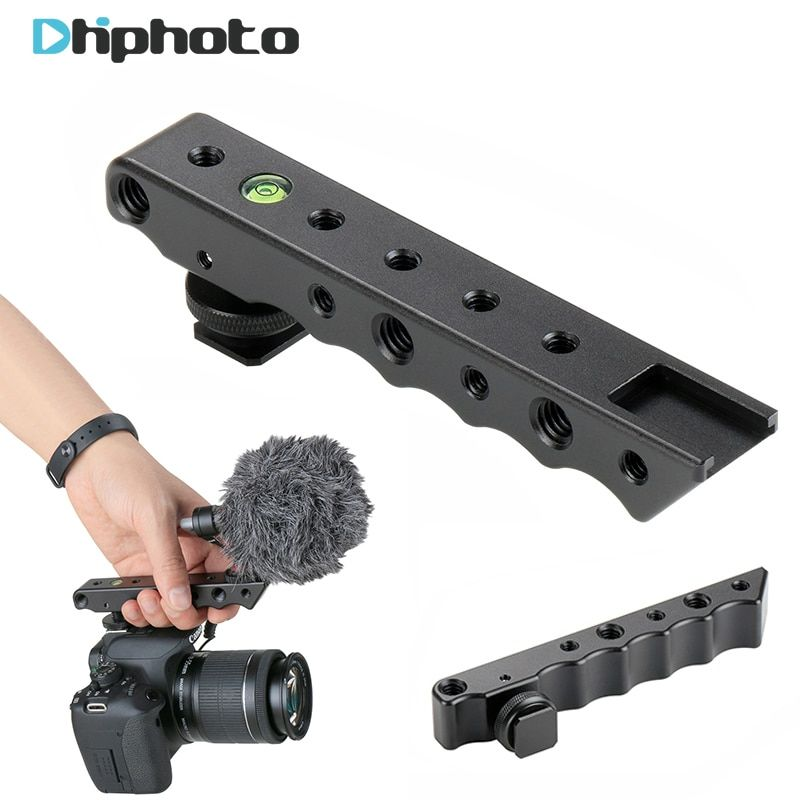 Ulanzi Video Stabilizing Top Handle <font><b>Cold</b></font> Shoe Extender Plate with 1/4 3/8 Thread for Canon Nikon Olympus Pentax DSLR Camera