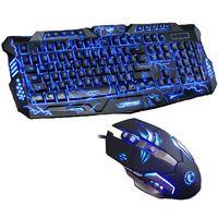 Nuevo tri-color Backlight Pro Gamer teclado Gaming teclado 6 botones 3200 DPI mecánico LED Backlight Pro Gaming Mouse