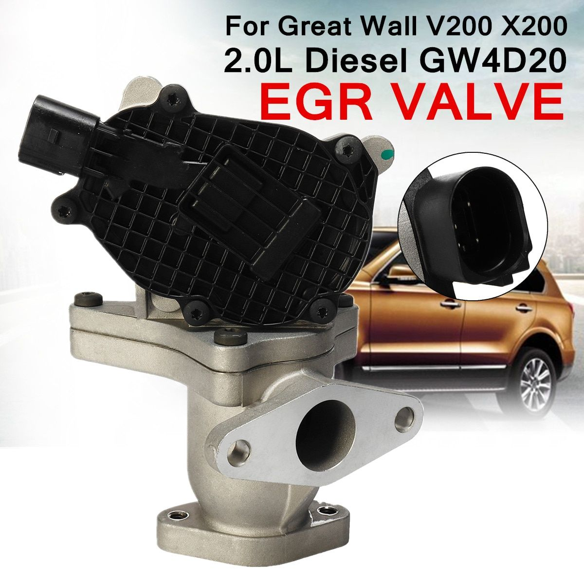 EGR Exhaust Gas Valve for Great Wall 1207100-ED01A V200 X200 2.0L for Diesel GW4D20 Recirculation Valve Reduce Temperature NOx
