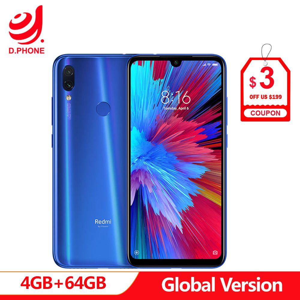 En Stock Version mondiale Xiaomi Redmi Note 7 6.3 plein écran Snapdragon 660 AIE 4 GB RAM 64 GB ROM 4G LTE Smartphone 48MP téléphone