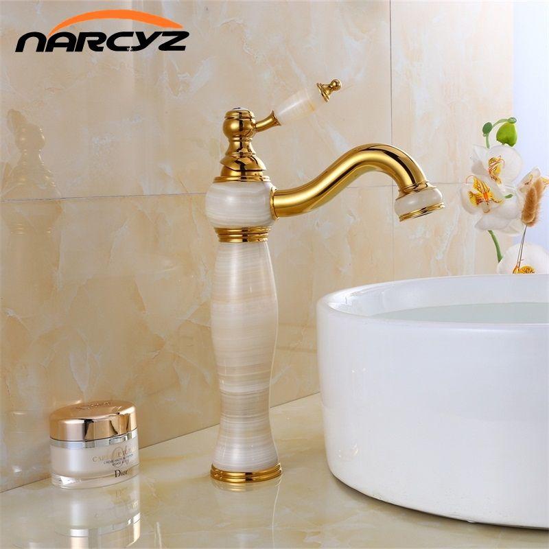 Livraison gratuite de luxe nouveau marbre naturel décoration salle de bains lavabo navire évier mélangeur robinet XT-1003