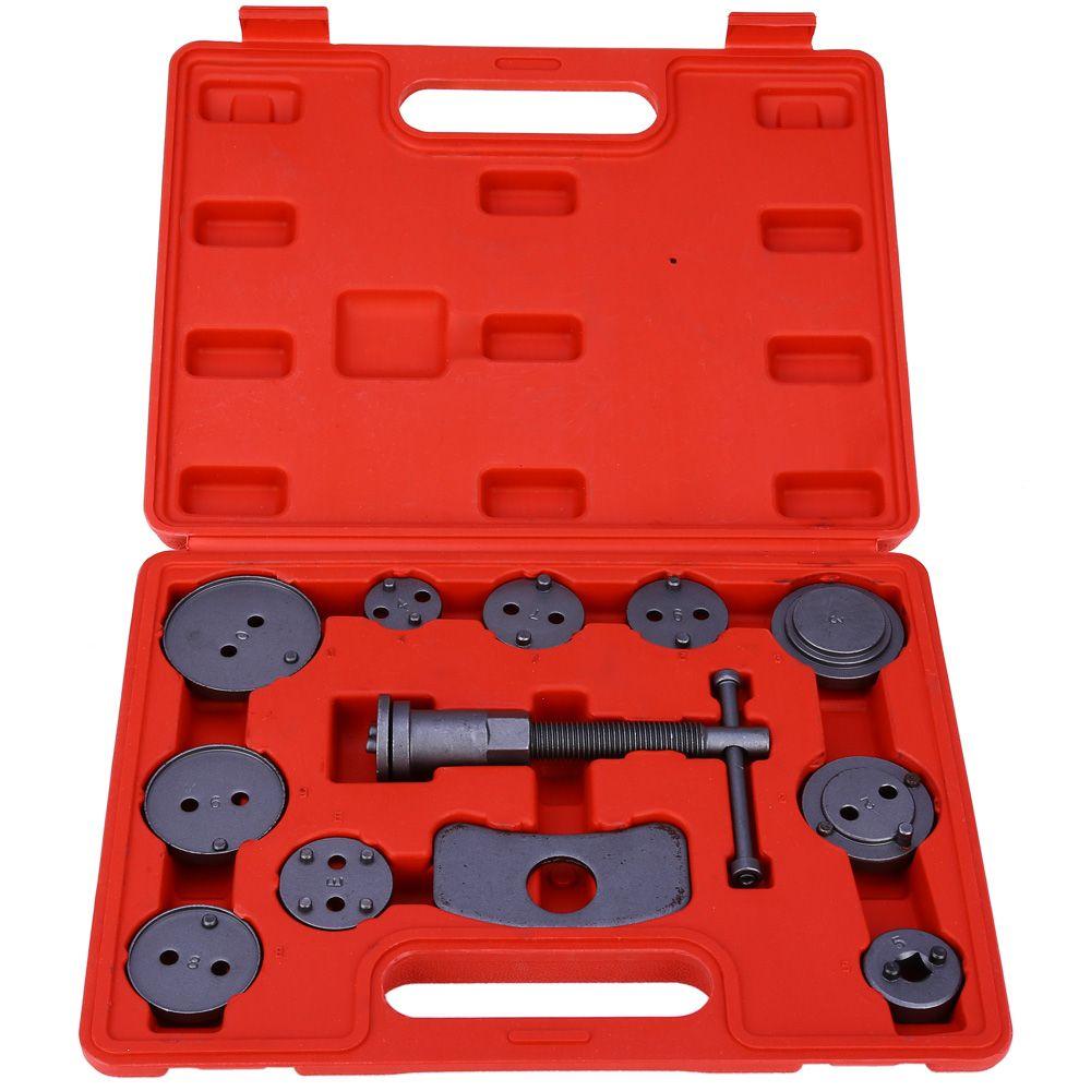 Universal 12pcs/set Car Precision Disc Brake Caliper Wind Back Brake Piston Compressor Tool Kit For Auto Garage Repair Tools