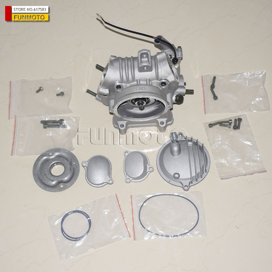 CYLINDER HEAD AND VALVE PARTS SUIT FOR HISUN 400-6ATV