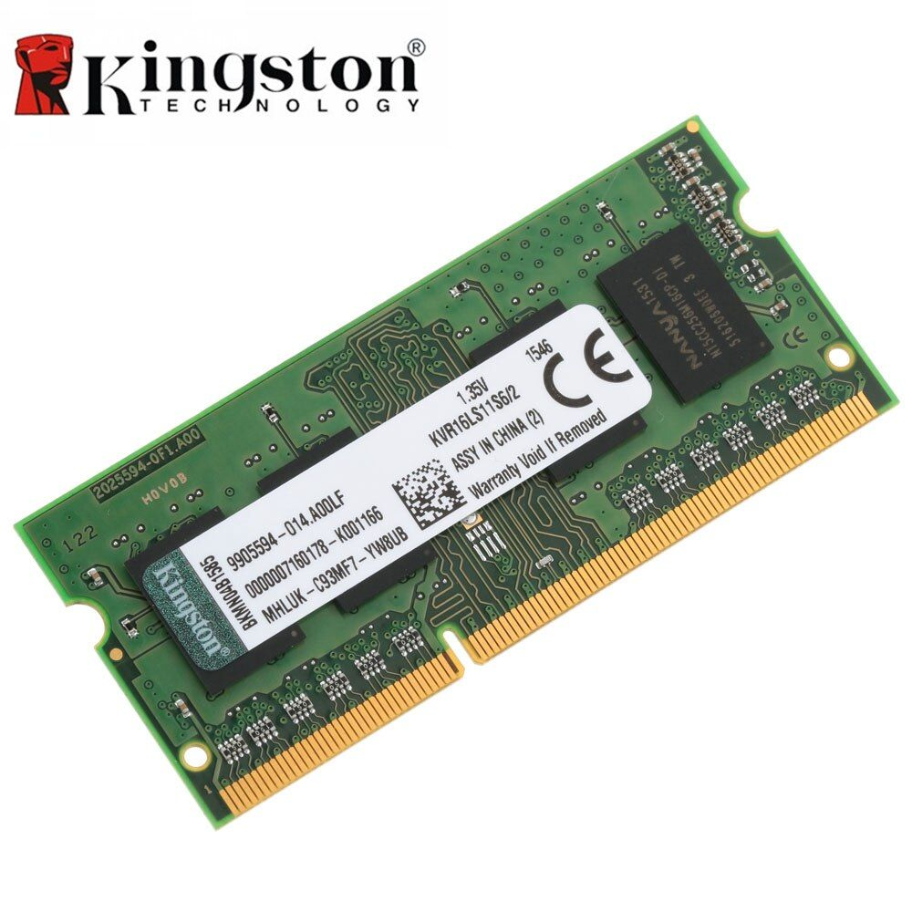 Kingston RAM DDR3 1600MHz Original CL11 204pin DDR3 4G 8GB Intel 1.35V Memoria Ram For Laptop Notebook Motherboard Memory