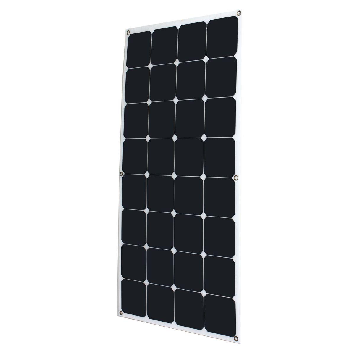 Universal Taux De Conversion Élevé Efficacité Sortie 18 V 100 W Monocristallin Panneau Solaire Semi Flexible DIY Module Solaire pour Bateau RV