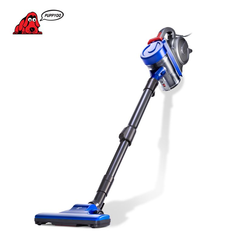 PUPPYOO Portable Rod Vacuum Cleaner <font><b>Handheld</b></font> Home Dust Powerful Collector Household Aspirator Sending from Russia WP3009