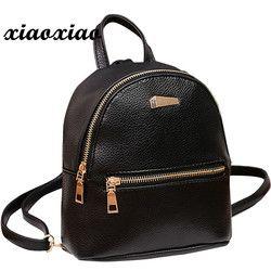 HTNBO women's bag School Rucksack College Shoulder Satchel Travel Bag Black Women Backpack Leather bag for 2019 mochila mujer