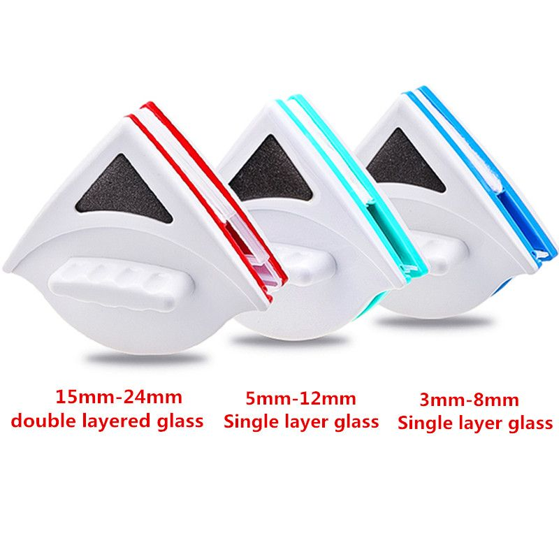 <font><b>Home</b></font> Window Wiper Glass Cleaning Tool Double Side Magnetic Brush Wiper Useful Surface Brush Washing Window Glass Brush Cleaner