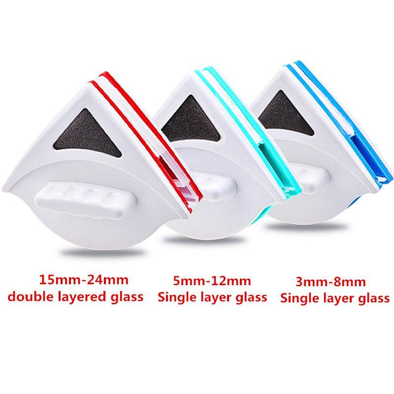 Accueil fenêtre essuie-glace verre nettoyant brosse outil Double face magnétique brosse pour laver les fenêtres verre brosse outil de nettoyage 3-30 MM propre