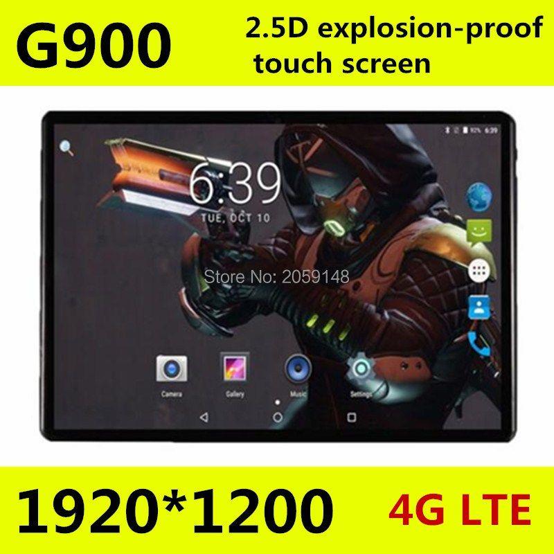 10.1 дюймов 2.5D экран 4 г Планшеты PC Телефонный звонок Две сим-карты, Android 7.0 1920x1200 Octa core 128 ГБ Планшеты шт Wi-Fi Bluetooth 10