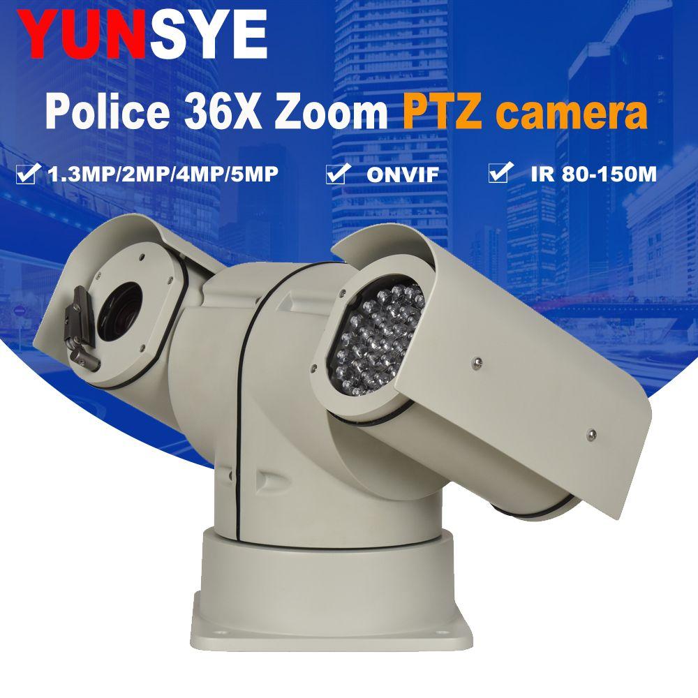YUNSYE Polizei hohe geschwindigkeit PTZ kamera 36X zoom 1.3MP 2.0MP 4MP 5MP wischer IP PTZ Kamera ONVIF Polizei PTZ speed dome kamera IP66 P2P