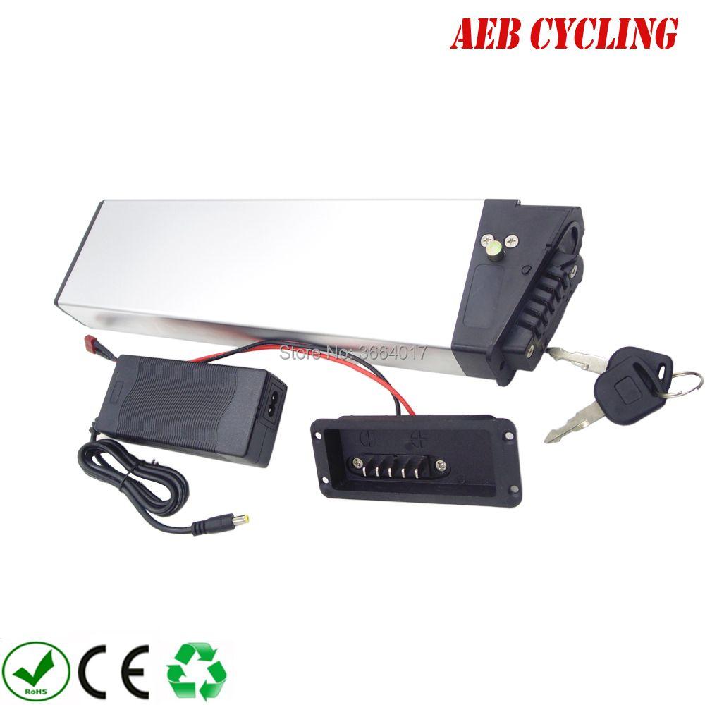 60 V hochspannung faltrad batterie 60 V 10.5Ah Lithium-ion silber fall batterie für stadt fahrrad faltbare ebike mit ladegerät