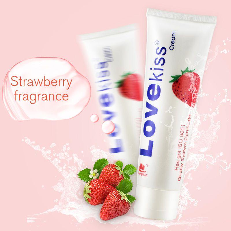 Amour baiser 100 ml fraise crème anal sexe lubrifiant oral lubrification vaginale massage huile produits sexuels