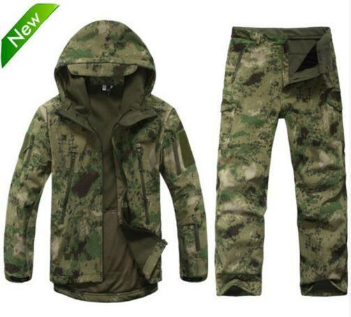 TAD tactique Gear Soft Shell Camouflage extérieur veste ensemble hommes armée décontracté étanche chasseur vêtements chauds militaire randonnée veste