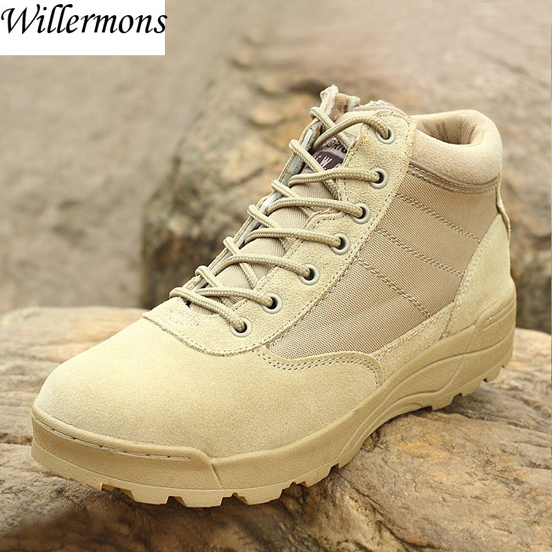 Men's Outdoor Military Hiking Boots Shoes Men Leather Army Trekking Boots Camping Sports Shoes Zapatillas Deportivas Hombre