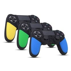 Non-slip Surface Design Rubber Durable Silicon Skin Cover Case Gamepad Protection Skin For Playstation 4 For PS4 For Dualshock 4