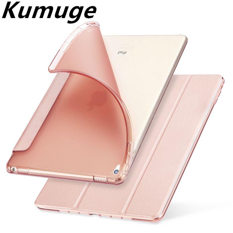 Pour iPad 2018 Cas PU En Cuir Magentic étui intelligent TPU revêtement arrière pour le Nouvel iPad 9.7 2018 2017 A1822 A1893 Tablet coque Funda