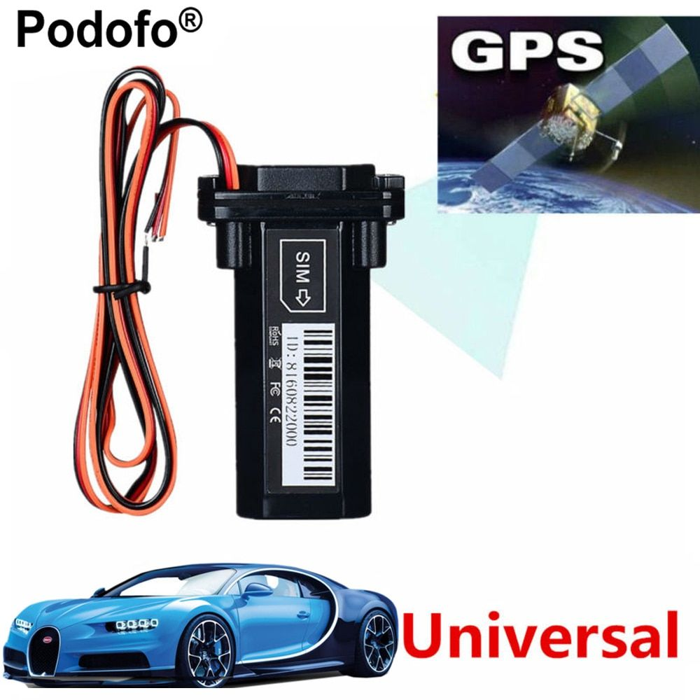 Podofo Newest Mini GPS Tracker Vehicle Tracking Device <font><b>Motorcycle</b></font> Car GSM SMS locator with Real Time Tracking System Built-in