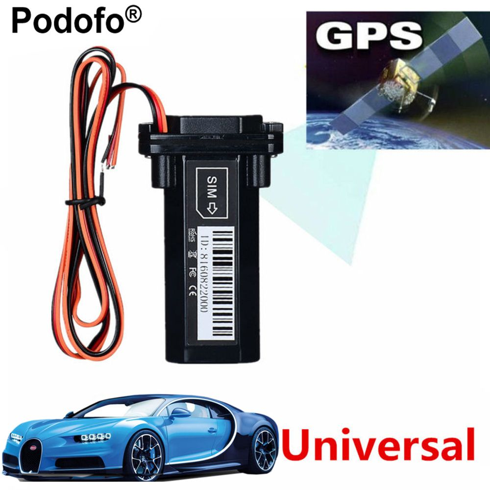 Podofo Newest Mini GPS Tracker Vehicle Tracking <font><b>Device</b></font> Motorcycle Car GSM SMS locator with Real Time Tracking System Built-in