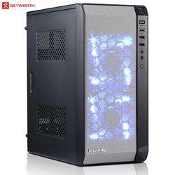 GETWORTH L1 Oficina computadora Pentium G4560 escritorio Gigabyte B250M 120g SSD PC del juego caso MATX amplia gama de negro uso de la Oficina