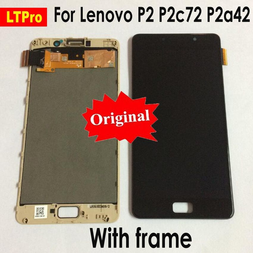 LTPro Original NEW LCD For Lenovo Vibe P2 LCD Display Touch Screen Digitizer Assembly With Frame For Lenovo P2 P2c72 P2a42 LCD