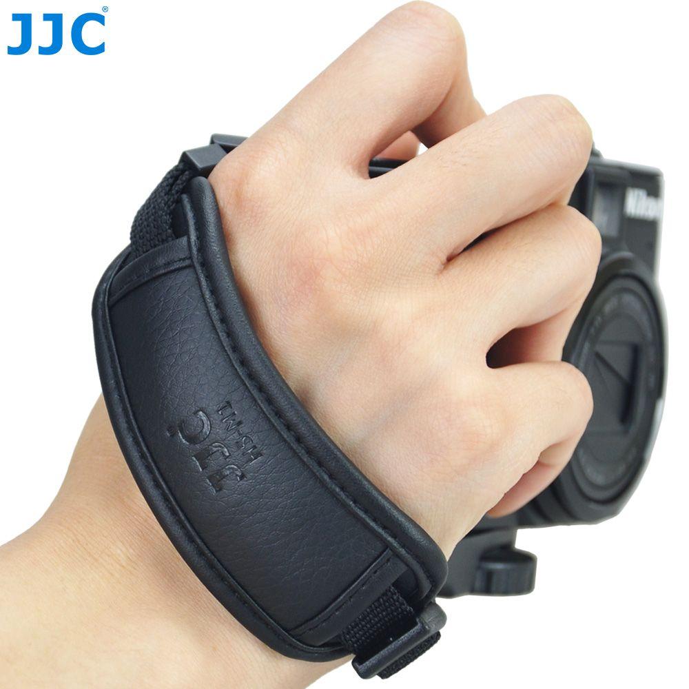 JJC bracelet en cuir DSLR Vintage ceinture sans miroir caméra poignée poignet installation rapide pour NIKON D80 D300 D5200 CANON EOS 450D
