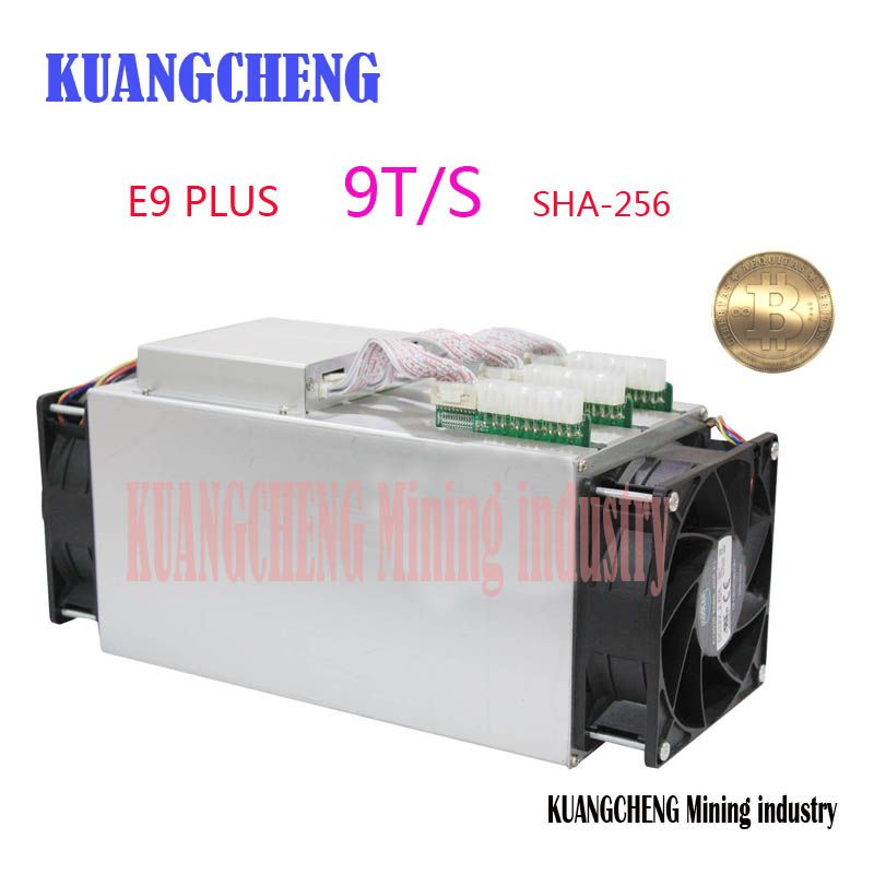 Bitcoin Miner Ebit E9 Plus 9T 14nm Asic Miner BTC Miner (with psu) better than Antminer S7 and high Cost-effectiv than S9