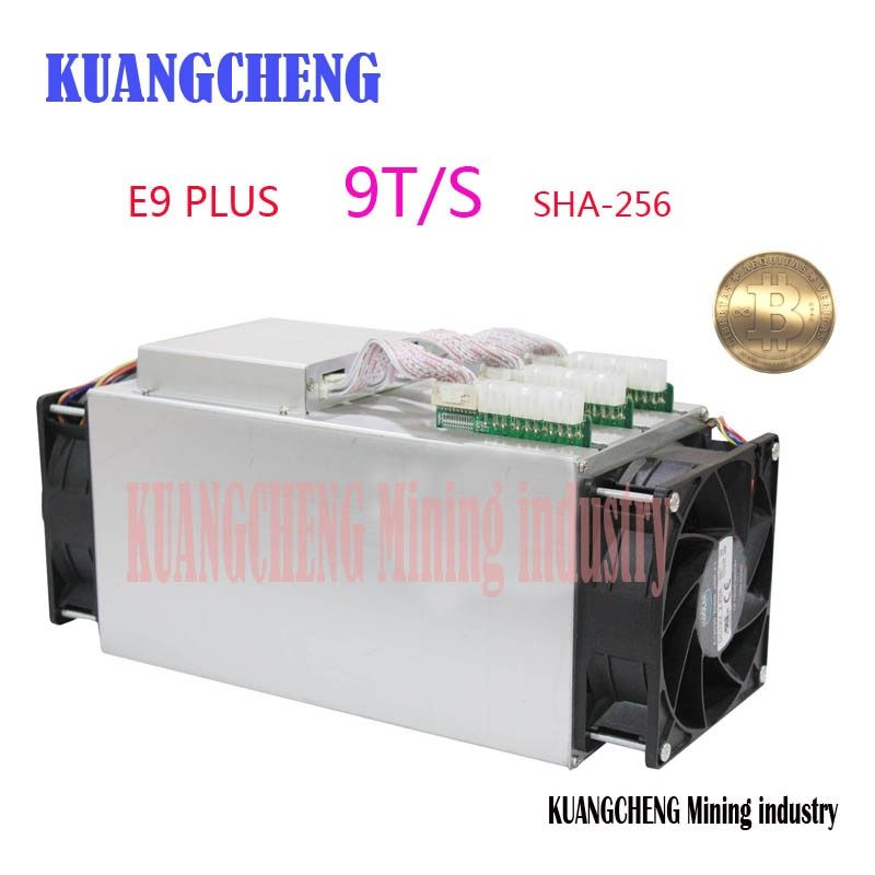 Bitcoin Miner Ebit E9 Plus 9T 14nm Asic Miner BTC Miner (no psu) better than Antminer S7 and high Cost-effectiv than S9