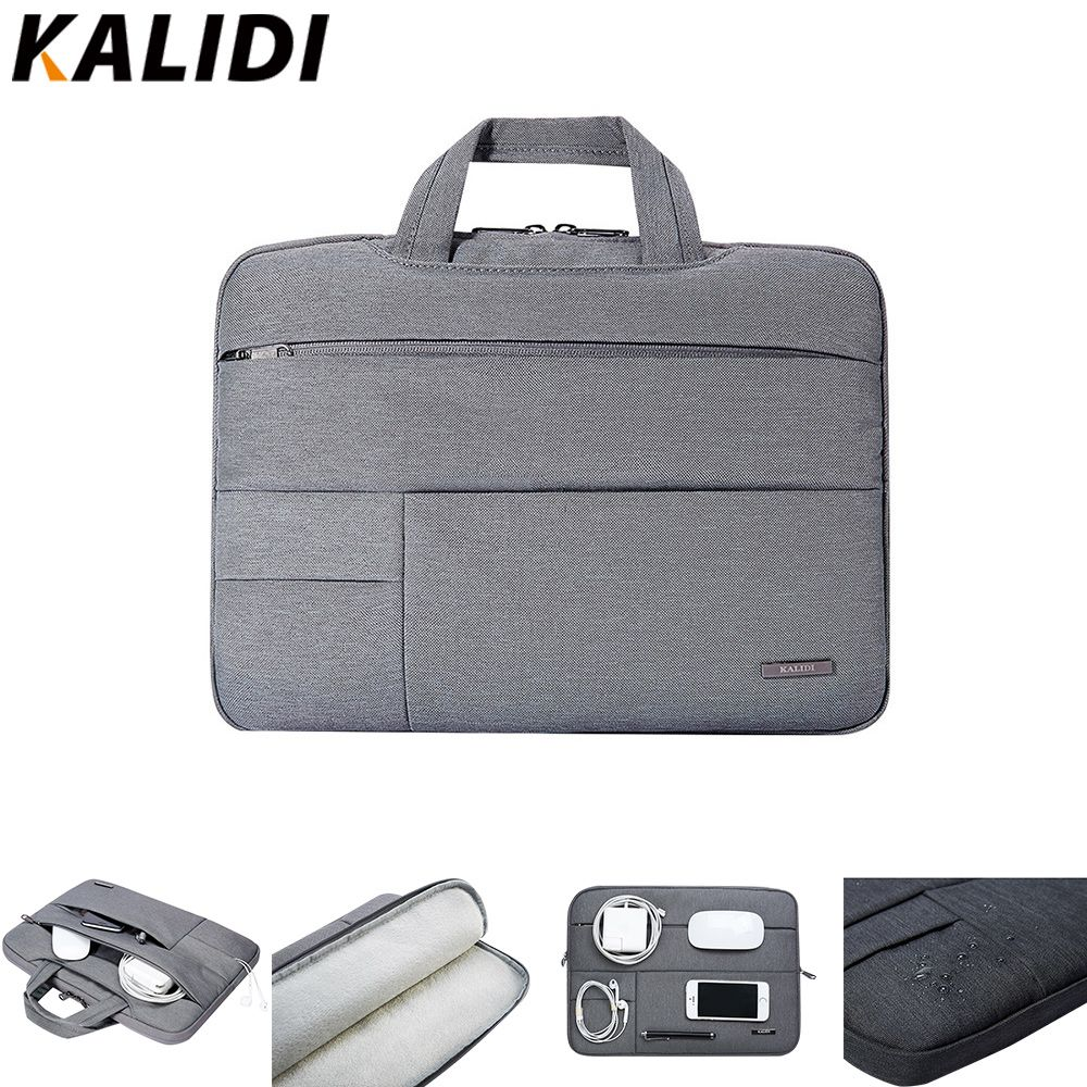 KALIDI Laptop Sleeve 13.3 14 15 15.6 Pouce Portable Sac Pour Macbook Air Pro 13 15 Ordinateur Portable Sac 13 15.6 Pouce Dell Asus HP Acer Sac