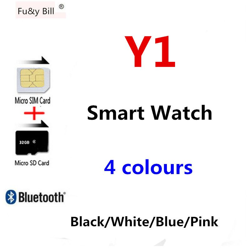 Fu&y Bill Smart Watch 1.54 Touch Screen Fitness <font><b>Activity</b></font> Tracker Sleep Monitor Pedometer Calories Track Support SIM Card Solt