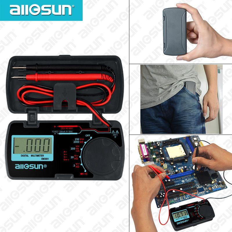 Tous-Soleil EM3081 Numérique Multimètre 3 1/2 1999 t AC/DC Ampèremètre Voltmètre Ohm Portable Mètre mètre de tension
