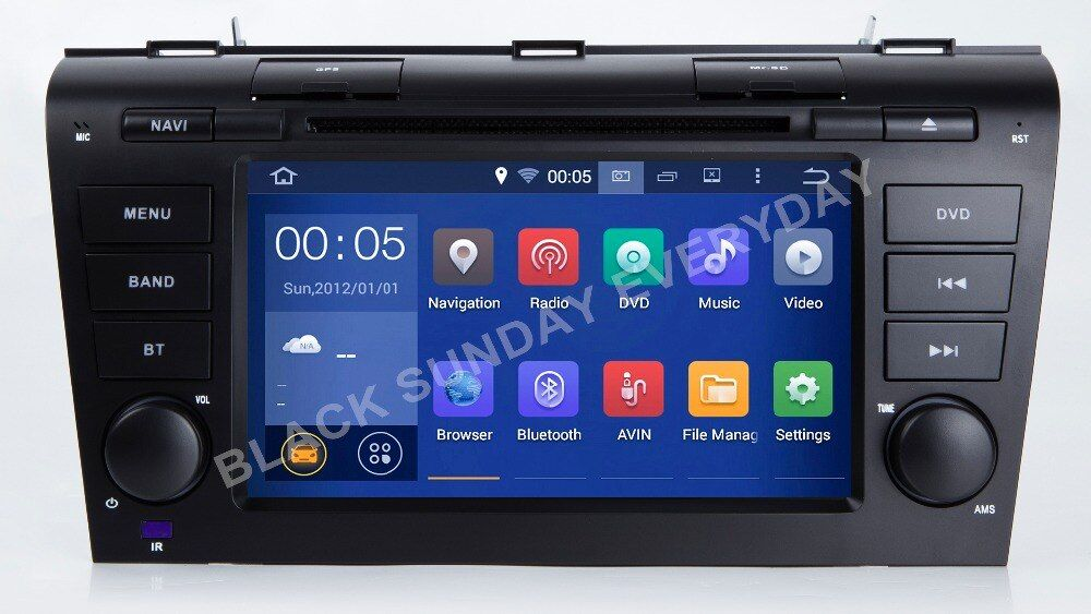 ROM 32/16G 4GB RAM Android 8.0 4G LTE Car DVD PC Multimedia DVD Player GPS Navi Stereo Radio Fit Mazda 32004 2005 2006 07-2009