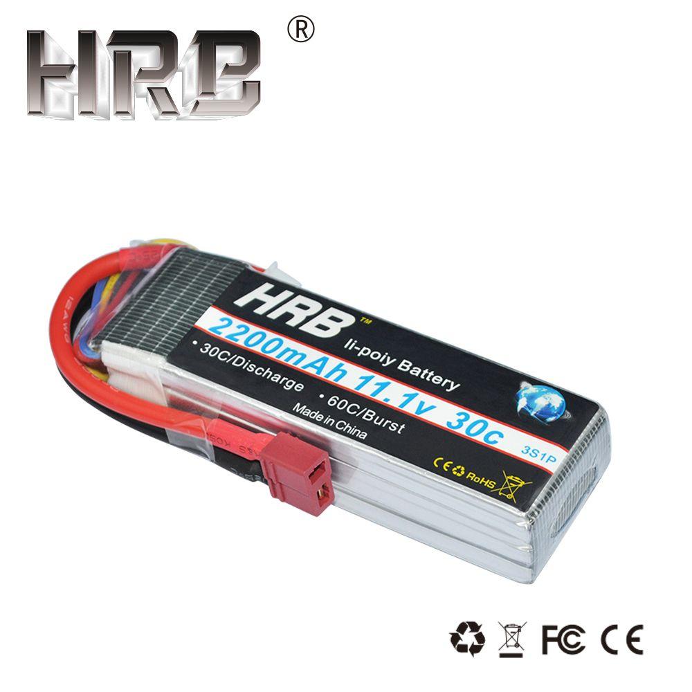 HRB 3 S Lipo batterie 11.1 V 2200 mah 30C RC pièces T XT60 Deans TRX XT90 EC5 JST pour Axial SCX10 avion FPV Drone voitures de course bateau