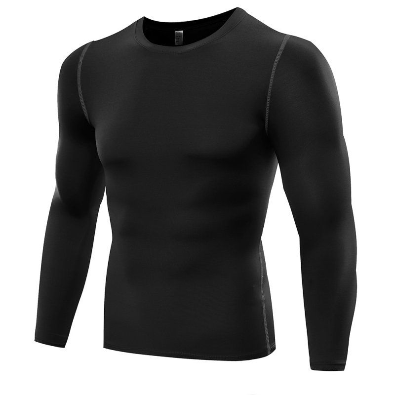 Fitness Men Long Sleeve Shirt Tops Clothes Thermal Muscle Bodybuilding Compression Tights Base Layer Tops