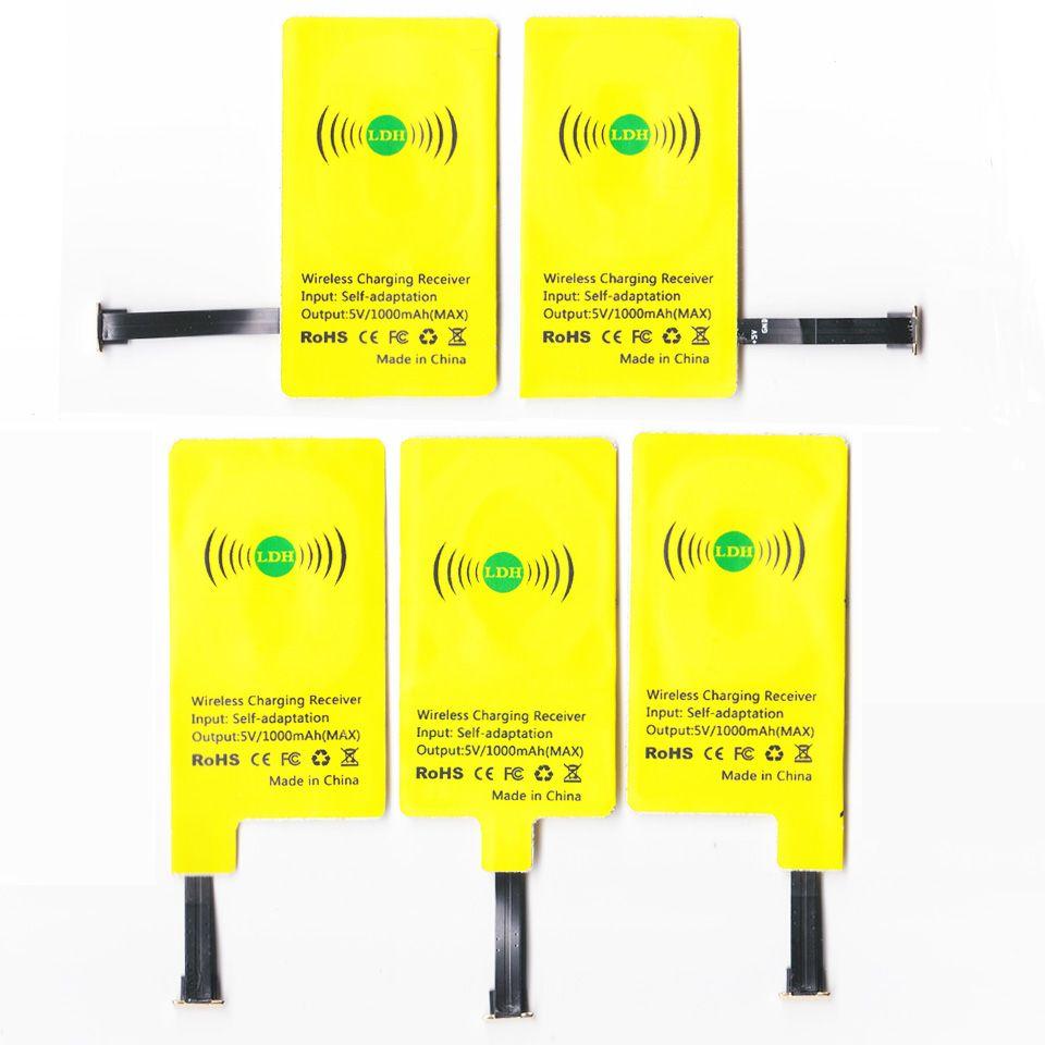 LDH New universal qi chargeur sans fil récepteur Pour Tous Android téléphone micro usb Adaptateur de charge