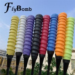 FlyBomb High Quality Badminton Rackets OverGrips Tennis Racquet Wraps Anti-slip Keel Grips Hand Glue Elasticity Overgrip L349OLD